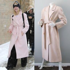 Vtg Petal Pink Anne Klein Wool Angora Maxi Coat 4